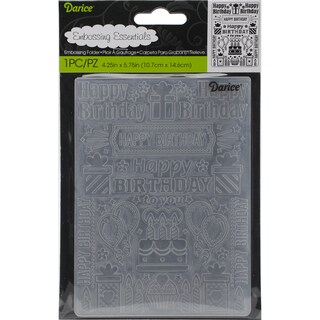 Embossing Folder 4.25inX5.75inBirthday Collage