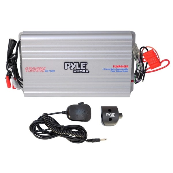 Pyle PLMR440PA 4-channel Marine Power Amplifier/ PA System (Refurbished)