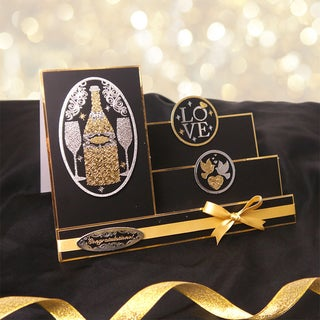 Luxury Silk Art Shaped 350gsm Cards W/Envelopes A5 5/PkgWhite Side Stepper