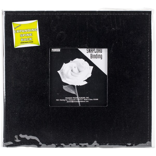 Sewn Leatherette Frame Snapload Album 8inX8inBlack