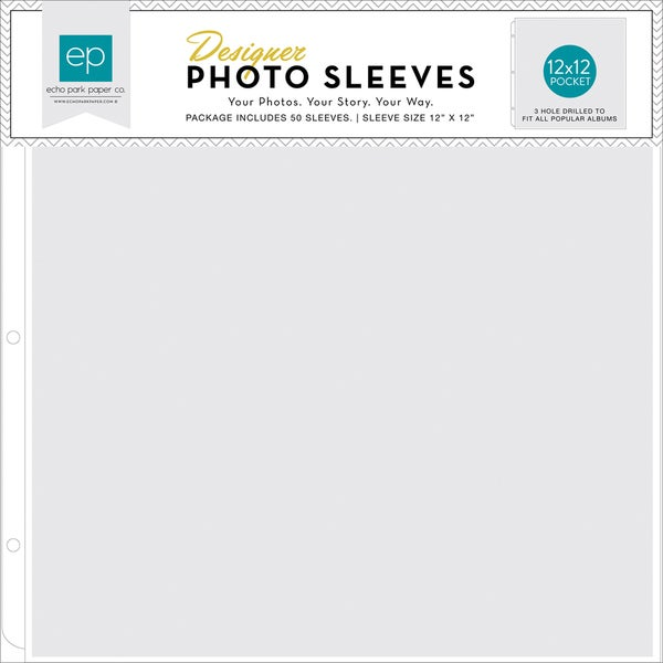Photo Freedom Photo Sleeves Protectors 12inX12in 50/Pkg(1) 12inX12in Pocket