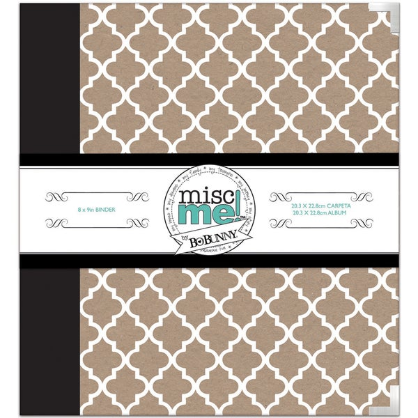 Misc Me Binder Life Journal 8inX9inWhite & Kraft