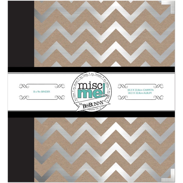 Misc Me Binder Life Journal 8inX9inSilver