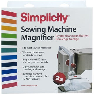 Sewing Machine MagnifierWhite & Red