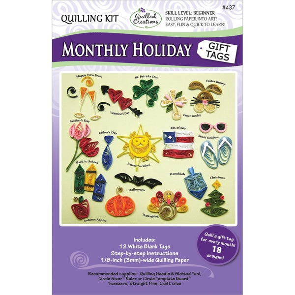 Quilling KitMonthly Holiday Gift Tags