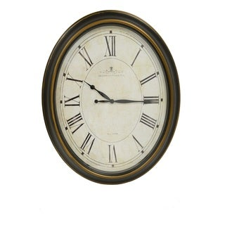 Glenmont Traditional Roman Numeral Oval Wall Clock