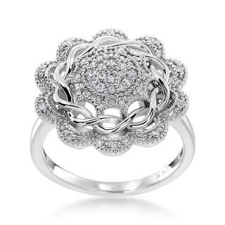 14k White Gold 1/4ct TDW Diamond Fashion Ring (H-I, SI1-SI2)