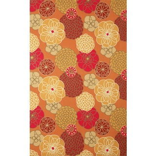 Modern Flower Outdoor Rug (5' x 8')