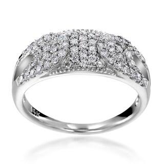 14k White Gold 1/2ct TDW Diamond Fashion Ring (H-I, SI1-SI2)