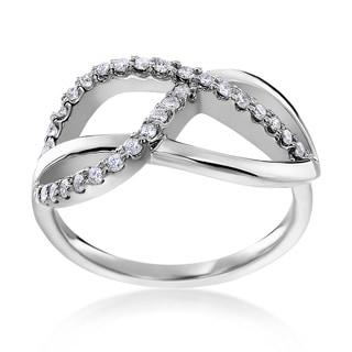 14k White Gold 1/3ct TDW Diamond Fashion Ring (H-I, SI1-SI2)