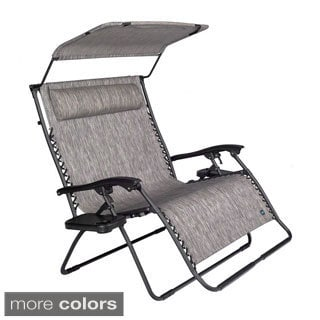Extra Large 2-person Gravity Lounge Chair with Canopy