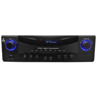 Pyle PT570AU 5.1-channel 350W Amplified Home Theater Receiver with Built-in AM/FM Radio/ USB Flash/ SD Card Inputs (Refurbished)