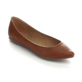 Breckelle's TALIA-32 Women's Easy Slip On Basic Ballet Flats