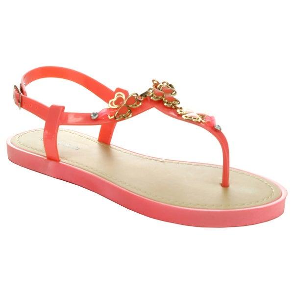 Top Moda GZ-3 Women's Ankle Strap Buckle Sling Back Sandals