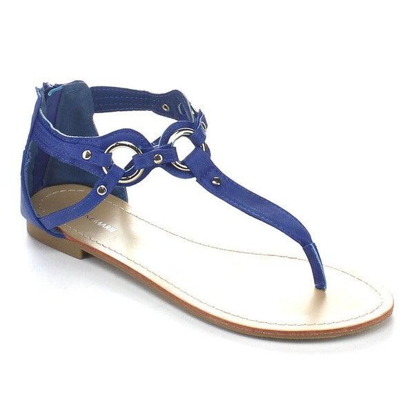 Anne Marie Ester-3 Women Ankle Strap T-Strap Sandals