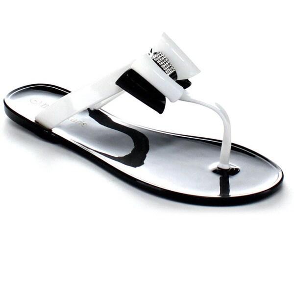 Bellamarie Jolin-1 Women Sweet Jelly T-Strap Flat Sandals