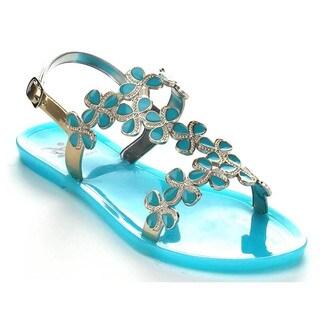 Easos GEAL AE322 Women's Slingback Flat Jelly Sandals