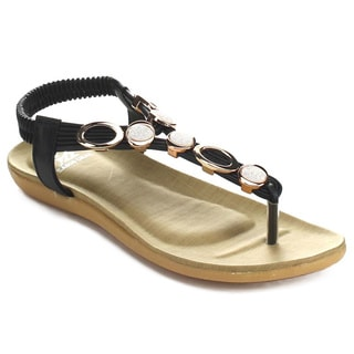 Easos GEAL JW-2986 Women's Slip-on T-Strap Cushioned Slingback Sandals