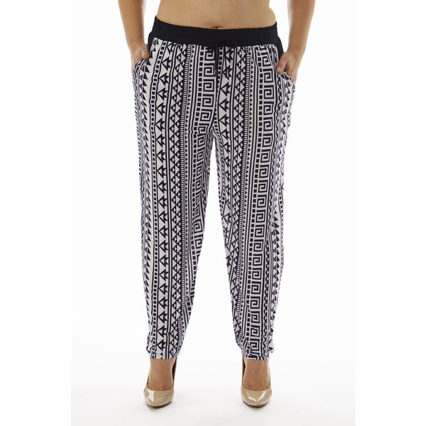 Golden Black Women's Plus Size Printed Knitted Joggers Pants