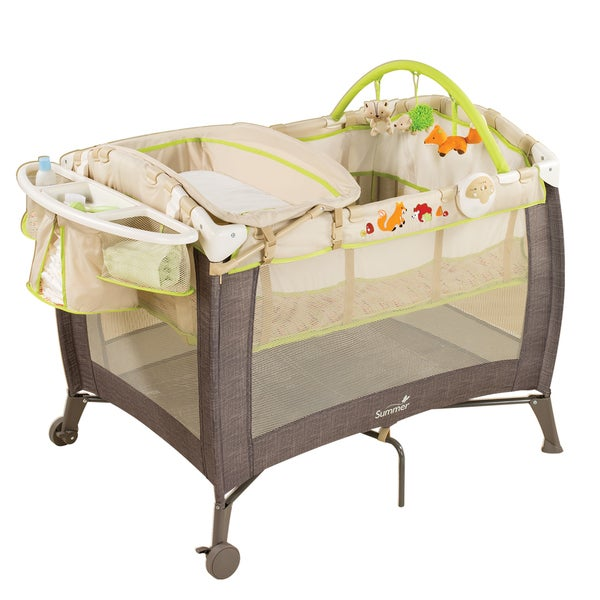 Summer Infant Grow with Me Playard and Changer in Fox & Friends