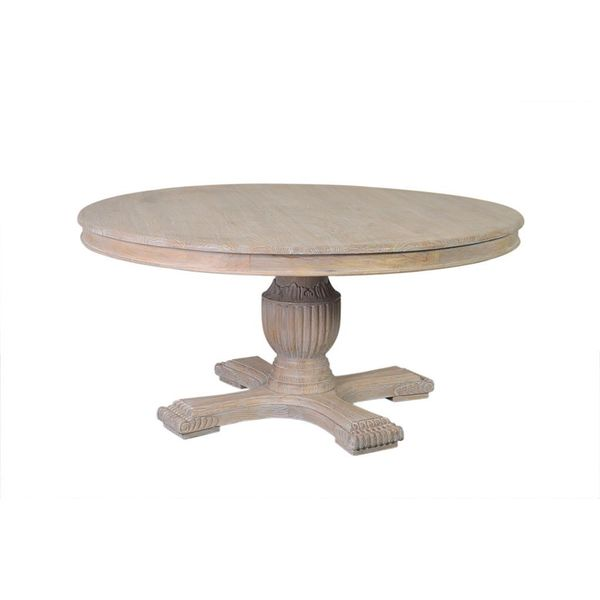 Natchez off white round dining table 17259303 for Off white round table