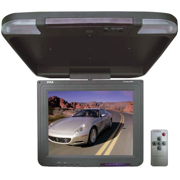 Pyle PLVW1443R 13.4-inch Flip-down Roof Mount LCD Monitor and IR Transmitter (Refurbished)