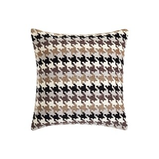 Sure Fit Houndstooth Chenille 20-inch Throw Pillow