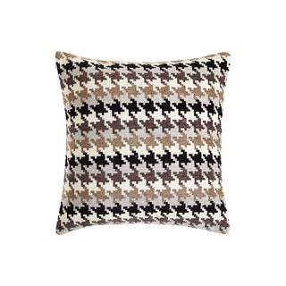 Sure Fit Houndstooth Chenille 20-inch Decorative Pillow