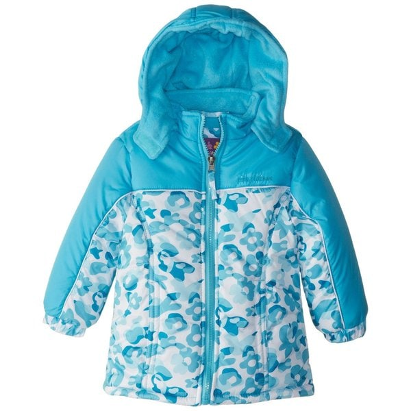 Pink Platinum Little Girl's Fleece Lined Down Alternative Puffer Winter Jacket