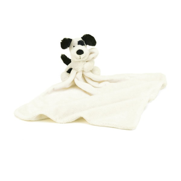 Jellycat Bashful Black & Cream Puppy Soother Blankie