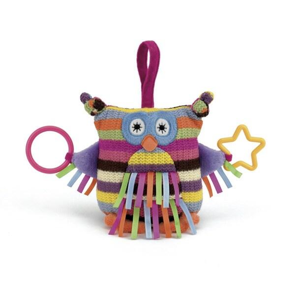 Jellycat Pink Hoot Owl Activity Toy
