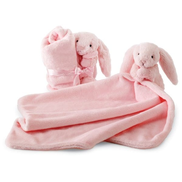 Jellycat Bashful Pink Bunny Soother Blankie