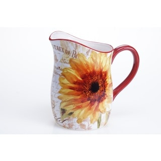 Certified International Paris Sunflower Pitcher, 3-Quart