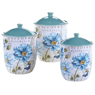 Certified International Tuileries Garden 3 Piece Canister Set
