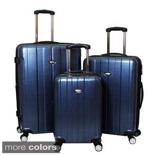 American Viaggo Polycarbonate Lightweight Hardside Spinner 3-piece Upright Luggage Set