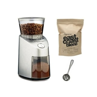 Capresso 565.05 Infinity Stainless Steel Conical Burr Grinder/Grand Aroma Coffee Beans (8.8-ounce) Swiss Roast and Measure Spoon