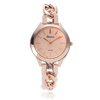 Geneva Platinum Women's Fashion Link Band Watch