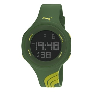 PUMA PU911091007 Unisex Twist Large Yellow Green Digital Watch
