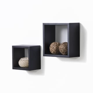 Lewis Hyman Black Wall Cube (Set of 2)