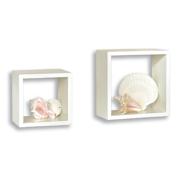 Lewis Hyman White Wall Cube (Set of 2)