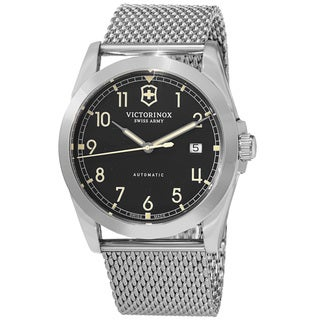 Swiss Army Men's V241587 'Infantry' Black Dial Stainless Steel Mesh Bracelet Swiss Automatic Watch