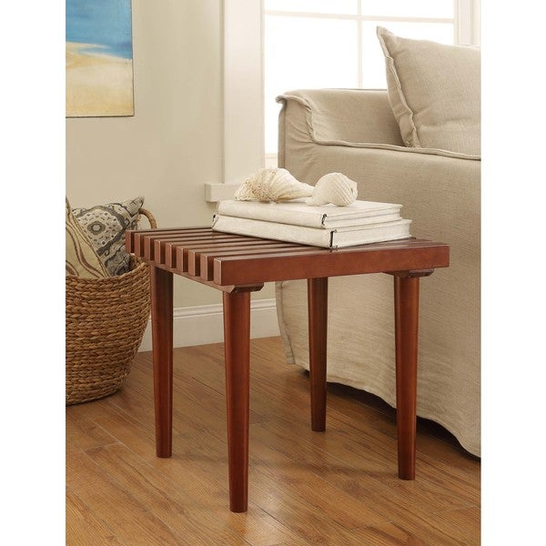 Pine Slat End Table