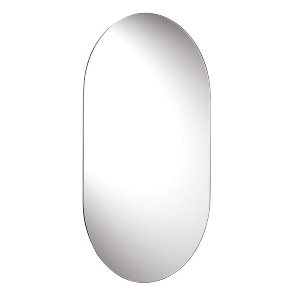 Harrop Rounded Rectangle Wall Mirror with Hang 'N' Lock