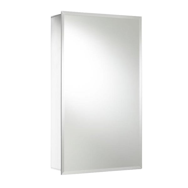 Recessed or Surface Mount Medicine Cabinet in Aluminum with Hang 'N' Lock
