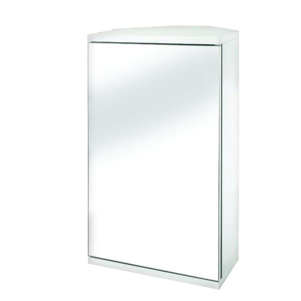 Simplicity 11.9-inch Mirror Corner Cabinet in White