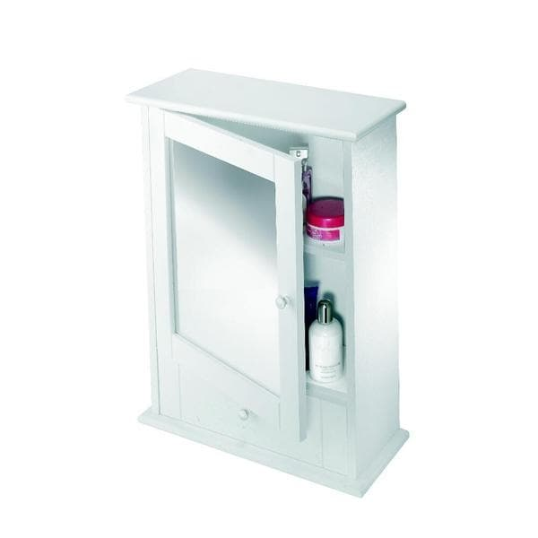 Maine Surface Mount Medicine Cabinet Only in White Wood