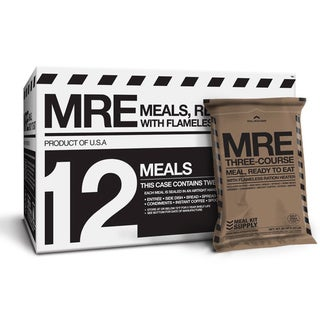 Meal Kit Supply 12-pack 3 course MRE with heaters
