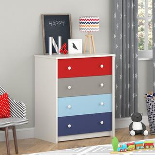 Altra by Cosco Kaleidoscope Kids 4-drawer Bedroom Chest
