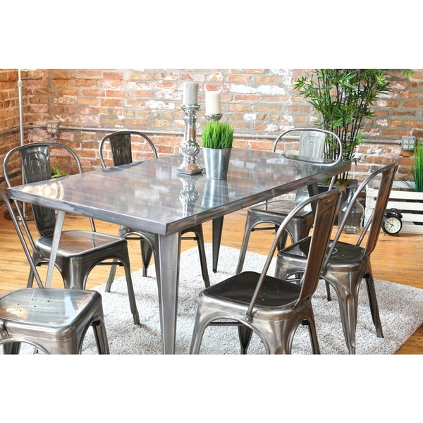 Austin Industrial Dining Table 59 Inches Wide X 32 Inches Deep 17260829 O