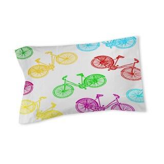 Thumbprintz Neon Party Bike Pattern Sham